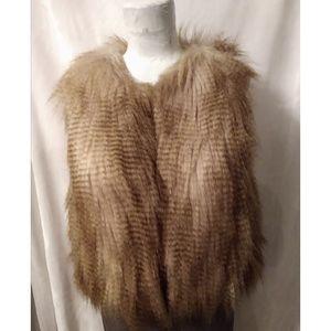 Faux fur vest size XS
